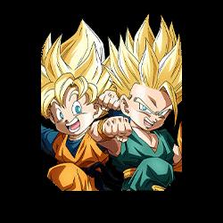 Innocent Pair Super Saiyan Trunks (Kid) & Super Saiyan Goten (Kid)