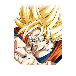 Eruption of Golden Ki Super Saiyan Goku